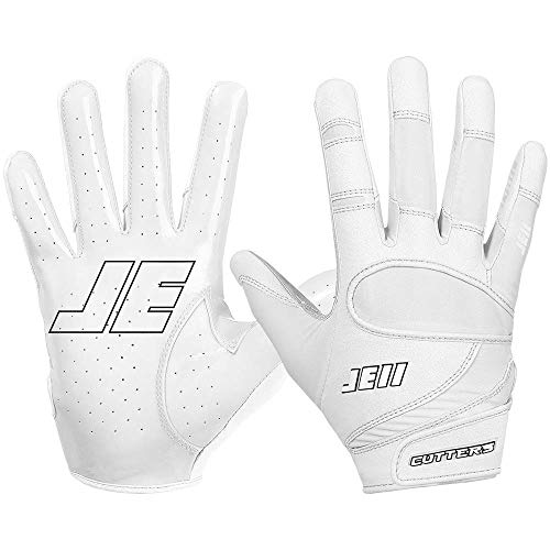 Cutters Julian Edelman Football Gloves. Extreme Grip & Breathable Receiver Gloves. JE11 Series. Flexible, Comfortable and Durable. Youth & Adult Sizes (1 Pair)