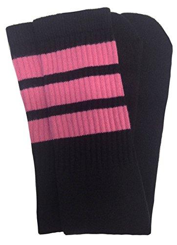 skatersocks 25 Inch Tube Socken Kniestrümpfe oldschool Sportsocken schwarz pink