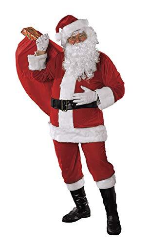 Rubies Disfraz de Papá Noel Premium Completo Unisex, Disfraz Original para Navidad, Adulto, Talla Única