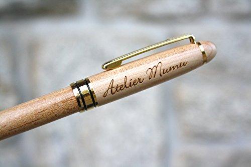 Penna personalizzata in legno, penna inciso con vostro testo, regalo personalizzato