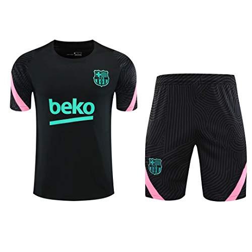 LQRYJDZ 2020/2021 Barcellona Men Shorts Sport Kit Kit Allenamento Suit Traspirante Abbigliamento Sportivo Jersey (Size : M)