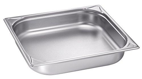 Blanco Gastronorm-Behälter, Edelstahl, GN 2/3-65, ungelocht, Inhalt 5,4 Liter
