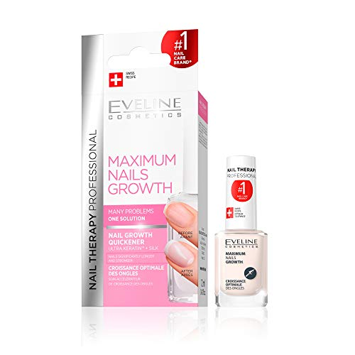 Eveline Cosmetics Nageltherapie-Conditioner Nagelwachstum Beschleuniger und Nagelhärter fur Brüchige Nagel | 12 ml | Nagelpflege und Behandlung | Sofortiger Effekt | Einfache Anwendung