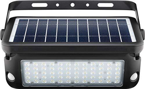 Goobay LED Solar-Wandleuchte mit Bewegungsmelder, 10W, Schwarz - Lichtlösung für Hauseingänge, Carports & Treppen