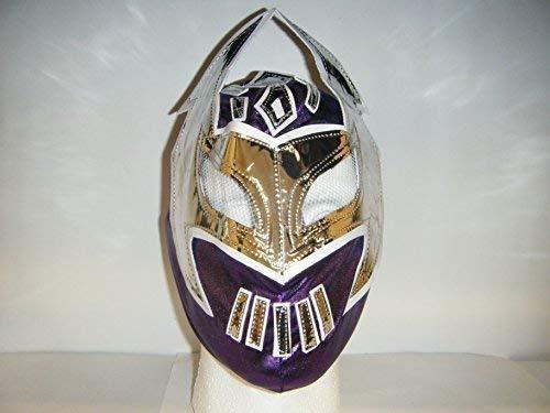 Dunkles Violett - Sin Cara Kinder Wrestling Reißverschluss Mask