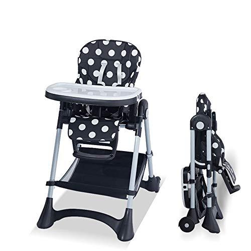 Chaise haute Siège d'appoint for bébé Chaise haute dîner enfant portable Chaise avec plateau Mangeoire Table anti-dérapant confortable et sécuritaire à hauteur réglable Alimentation pliable bébé Chais
