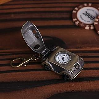 QILEGN Kreative Car Pocket Watch Legierung Vintage Keychain Anhänger Ornament Uhr