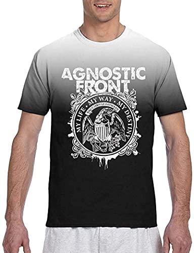 Agnostic Front Men's T Shirt Short Sleeve Designable Light Intellectual-Black-Large