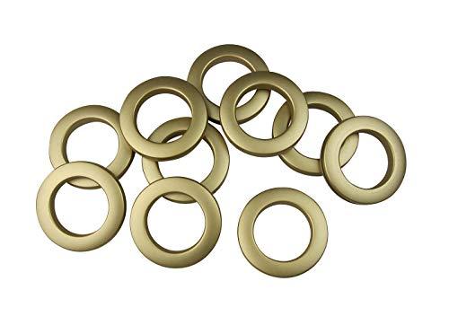 Stoffösen für Stoffloch Ø 40 mm, verwendbar für alle Stoffstärken, 10 Stück, Kunststoff, messing matt lackiert