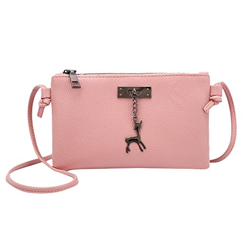 PANPANY Borsa Women Handbag Elegant Shoulder Bag Metallic Chain Strap Pu Leather Crossbody Borse a tracolla