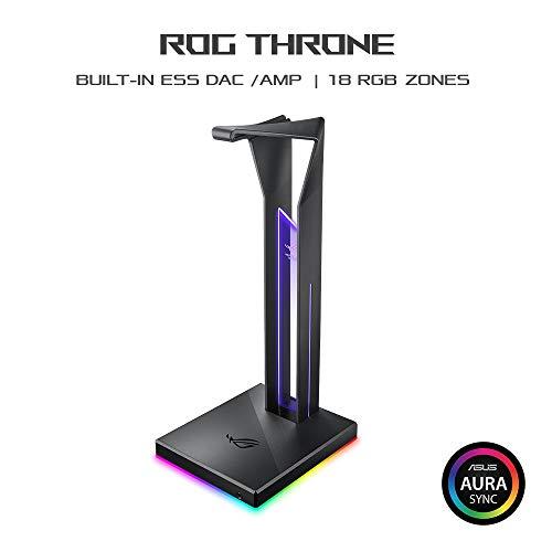ASUS ROG Throne Gaming Headset Halterung (7.1-Surround-Sound, zwei USB-3.1-Anschlüsse, AURA Sync)