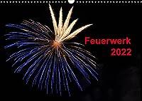 Feuerwerk (Wandkalender 2022 DIN A3 quer): Buntes Hoehenfeuerwerk im Nachthimmel (Monatskalender, 14 Seiten )