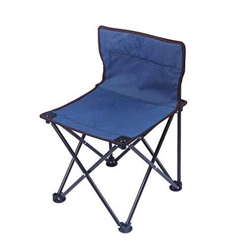 CATRP en Plein Air Chaise Pliante, Portable Compact Chaise Légère pour Le Camping, La Pêche Pique-Nique, Voyage, 2 Couleurs (Color : Blue)