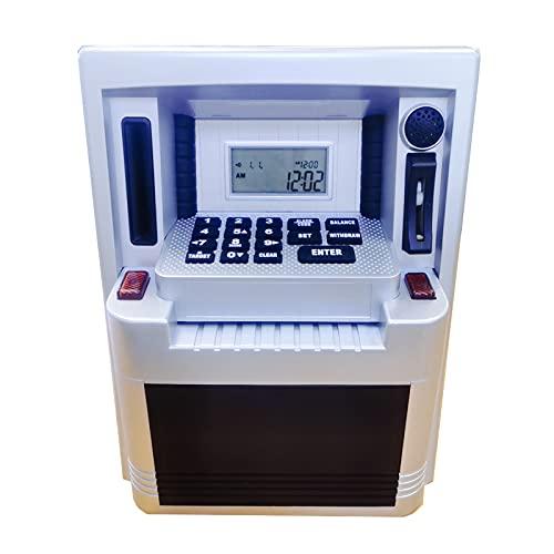OMVOVSO Guardar Bancos Utilomatic Gas Money Bank con Pantalla LCD Dispensador Automático De Dinero para Niños Caja De Contraseña Creativa Kinder Münzbanken,Blanco