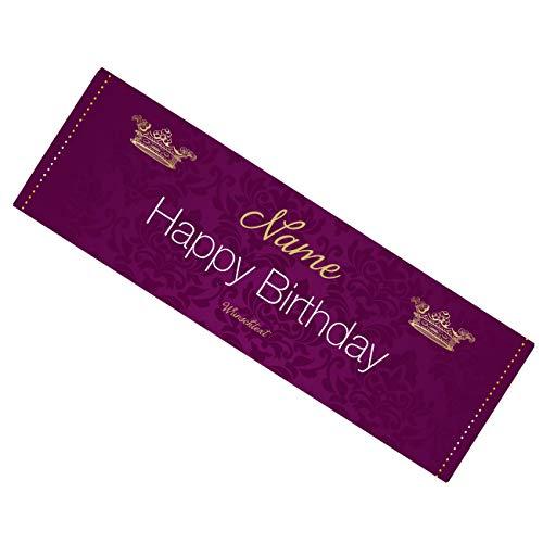 Herz & Heim® Schokolade - Happy Birthday - mit persönlichem Text und Wunschname 300g