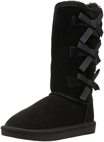 Koolaburra by UGG Kid s Victoria Tall Fashion Boot Black 05 Youth US Big Kid product image