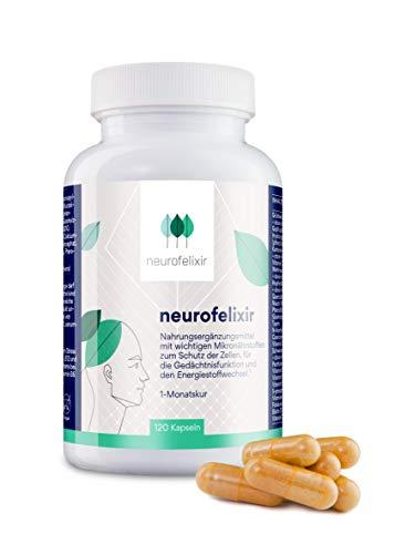 neurofelixir Kapseln mit EGCG, Kurkuma, Coenzym Q10, Vitaminen und Aminosäuren / Für Gehirn, Gedächtnis & Konzentration / 120 Kapseln / 100% vegan