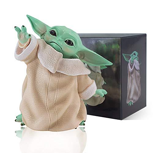 BAKIOYE Baby Yoda Action Figure, Baby Yoda Figures Toy, Baby Yoda Doll, Yoda Baby Figurine Gift for Kids, Baby Yoda Collection Movie Fans