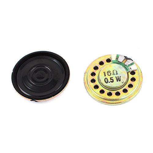Sourcingmap® 2 Stück 0.5W 16Ohm 28mm runder innerer Magnet Elektronische Lautsprecher de