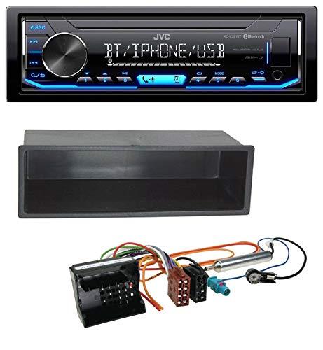caraudio24 JVC KD-X351BT AUX USB Bluetooth MP3 Autoradio für Citroen Berlingo, C2, C3, Jumpy