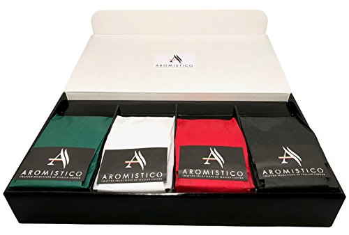AROMISTICO Crafted Selections of Italian Coffee - Luxury Coffee Hamper Gift Box (Variety Luxury Gift Set Beans)