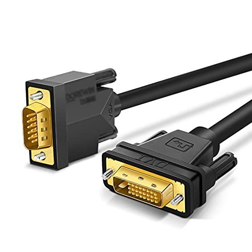 Cable DP DVI A VGA Monitor Cable MOTAL A Mayor A Soporte de cordón de Oro de Color Dorado 1080p para el Host de PC, computadora portátil, Monitor y proyector Display Port (tamaño : 1m)