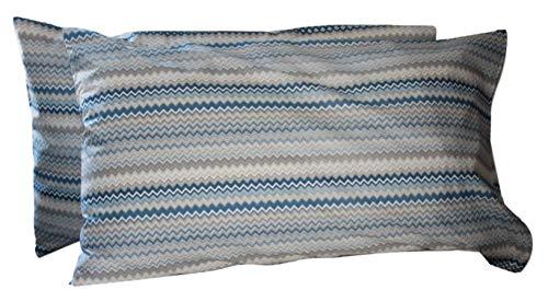 RICAMI FIORENTINI BALDI Funda nórdica a rayas y fundas de almohada, 100 % algodón, también a medida, se puede añadir debajo de esquinas. Producto artesanal fabricado en Italia (matrimonial max
