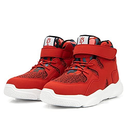 BQT Zapatos ortopédicos para niños, Tobillo Alto niños Deporte Zapatos correctivos con Arco de Apoyo XO-en Forma de piernas pies Planos Hallux Valgus Zapatillas correctivas para niños niñas,Re