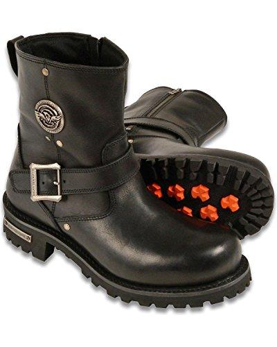 "Milwaukee Leather Men's 6"" Classic Engineer Boot Round Toe Black 11"