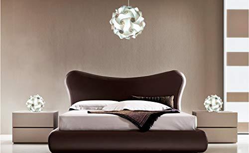 Juego lamparas dormitorio: Lampara a suspension de techo FIOCCO 35 cm + 2 lamparas de noche modernas disegno elegante nordico