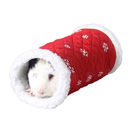 Sungpunet Roditori Animali tunnel del giocattolo inverno caldo pile tubo Hideout letto a giocare Tunnel per il regalo Criceto/Gerbil Rat (rosso) per l'inverno