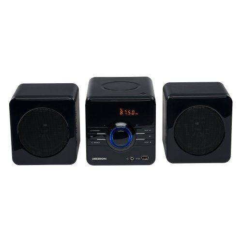 MEDION MD 83067 E64018 Micro-Audio-Soundsystem Anlage MP3 CD Radio USB LED-Display ° Sleep Timer ° 20 Senderspeicher ° Farbe:schwarz