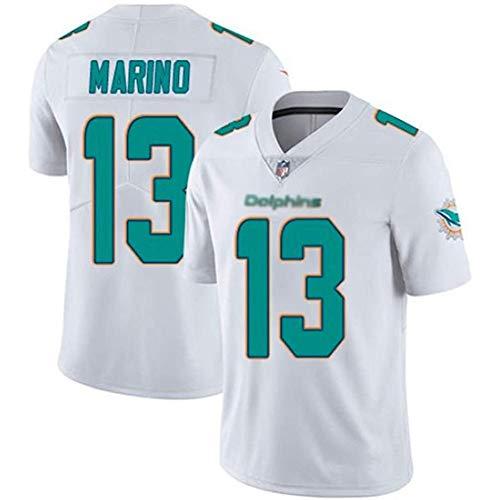 JesUsAvila Mar-in.o #13 NFL Camiseta de Rugby Sudadera Bordado Deportiva de Manga Corta Unisex Jersey de Fútbol Americano Transpiración/Blanco/L