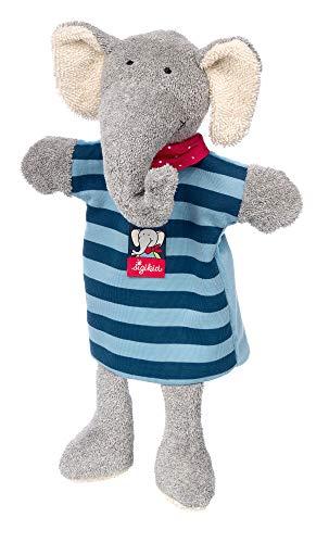 SIGIKID Mädchen und Jungen, Schnuffeltuch-Handpuppe Lolo Lombardo, Babyspielzeug, empfohlen ab 0 Monaten, blau/grau, 39245