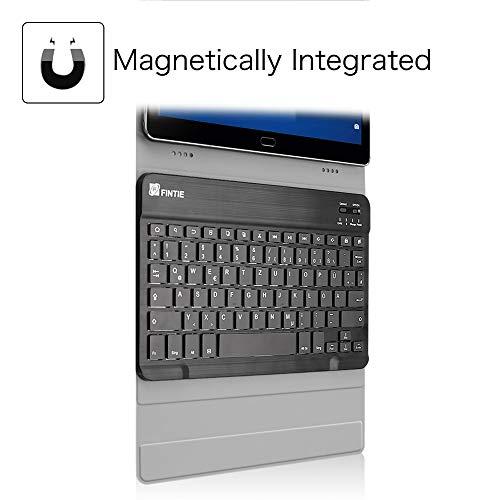 Fintie Huawei MediaPad M3 Lite 10 Bluetooth QWERTZ Tastatur Hülle - Ständer Schutzhülle mit Magnetisch Abnehmbarer Drahtloser Deutscher Bluetooth Tastatur für Huawei M3 Lite 10.1 Zoll, Schwarz - 4