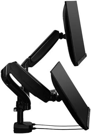 Gelid Solutions FlexMount Monitor Stand-Gas Spring Monitor Stand for 2 Monitors-2 Built-in USB Hub-Load Capacity 8 KG per Arm-VESA 100/75-Desk Harmony & Ergonomics