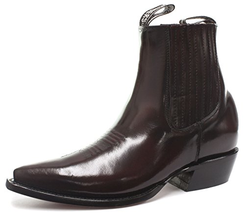 Grinders Austin Herren Western Cowboy Boots, Weinrot, Gr��e 41