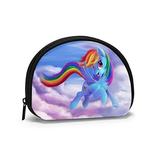 My Rainbow Pony - Monedero portátil para mujer y hombre, moderno, pequeño Shell