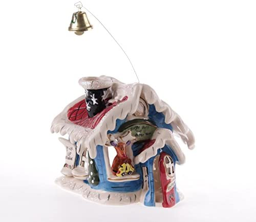Blue Sky Ceramic 6 x 5 25 x 5 5 Rudolph Jingle Bell Shop Candle House product image