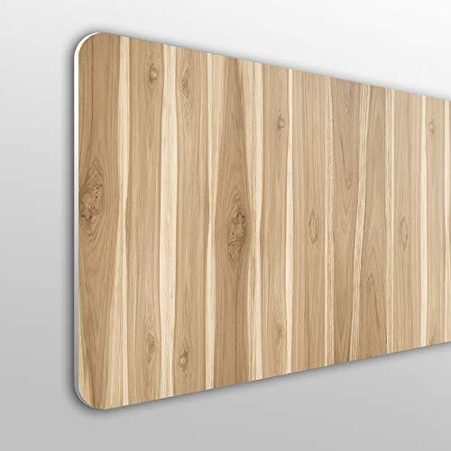 MEGADECOR Cabecero Cama PVC 10mm Decorativo Económico. Efecto Panel De Madera De Nogal Claro (100cm x 60cm)