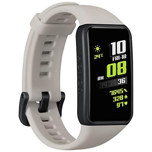 Honor Pulsera 6 Smart Wristband Full Screen 1.47' AMOLED Color Touch Screen Tracker Actividad Deportiva, Versión Global Gris
