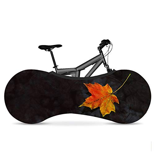 KHXJYC Indoor Bicycle Cover, Maple Leaf, Dustproof/Elastic/Tire Protection Cover To Keep The Floor And Walls Clean, Suitable For Most Adult Bicycles,#5