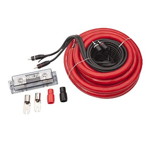 Kit Cavi Ground Zero GZPK 50X x amplificatore Cavo auto rca 0 awg Ø 50 mm² 50mm installazione auto