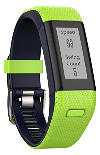 Garmin Approach X40 - Bracelet GPS de Golf avec Cardio Poignet - Taille Regular - Jaune et Bleu Nuit