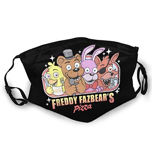 FNAF Fünf Nächte in Freddys Gesicht Mundschutz Schützen Sie Bequeme atmungsaktive Sicherheit Luftnebel Outdoor Fashion Half Face Shield - für Mann und Frau