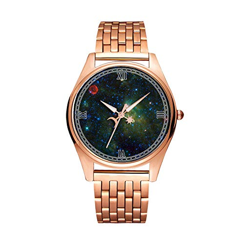 Minimalistische Golden Fashion Quartz Polshorloge Elite Ultra Dunne Waterdichte Sporthorloge Artistiek patroon-117.SN 1572 Tycho's Supernova