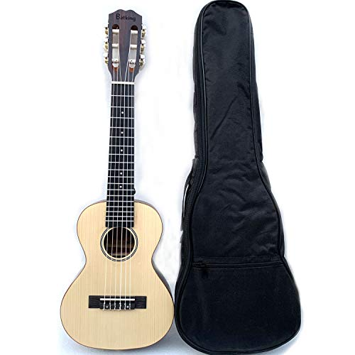 Ukelele de 6 cuerdas con mini bolsa de viaje para guitarra de 28 pulgadas