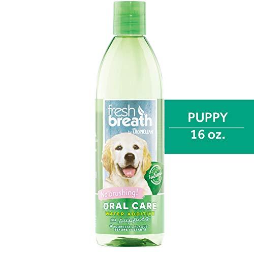 Fresh Breath von TropiClean Water Additive für Welpen, 473ml, hergestellt in den USA