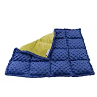 Harkla Weighted Lap Pad for Kids 5 pounds - Great Sensory Weighted Lap Blanket for Kids in School & On-The-Go - Soft and Comfortable Sensory Pad with Minky Fabric for Children