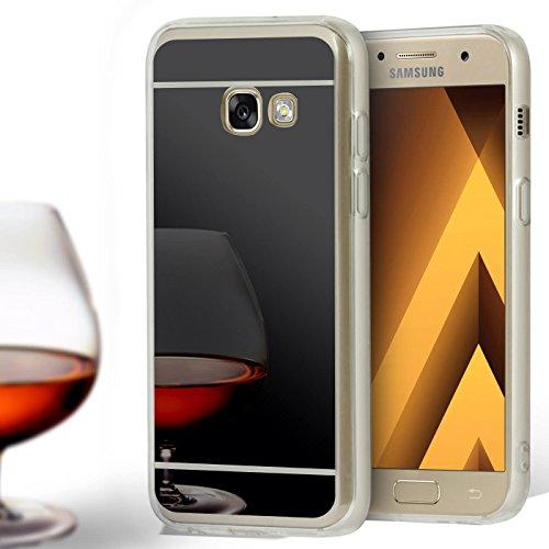 Carcasa con Espejo Compatible con Samsung Galaxy A5 (2017)   TPU Negro   Espejo